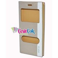 Casper VIA V5 Kılıf Çift Pencereli Gizli Mıknatıslı Gold