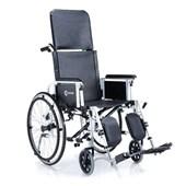 K9 Pvc Kumaş Sırt Yatar Manuel Tekerlekli Sandalye