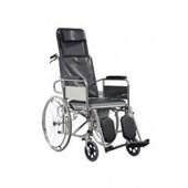 MAXİ HEALTH 609 Sırtı Yatar Tuvaletli Tekerlekli Sandalye 133