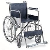 Standart Katlanabilir Çelik Tekerlekli Sandalye
