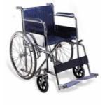 Wollex mb_9554 Manuel Tekerlekli Sandalye Deri Döşemeli Dolgu Teker